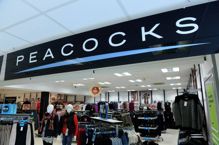 A Peacocks storein the UK. The retailer has told its Bangladeshi clothes manufacturer Denim Expert that it would no longer pay the clothes maker for any of the items it had ordered, including 'stock already handed over'