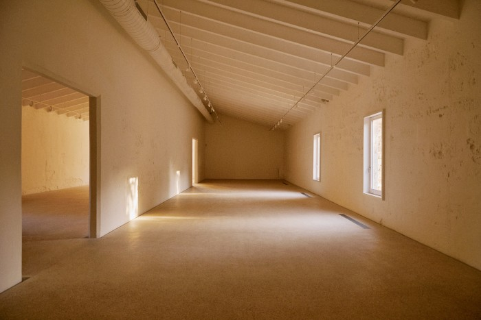 The main gallery space, soon to be filled with works by LAartist Mark Bradford