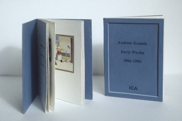 Hand-painted catalogue, 2000, by Andrew Grassie