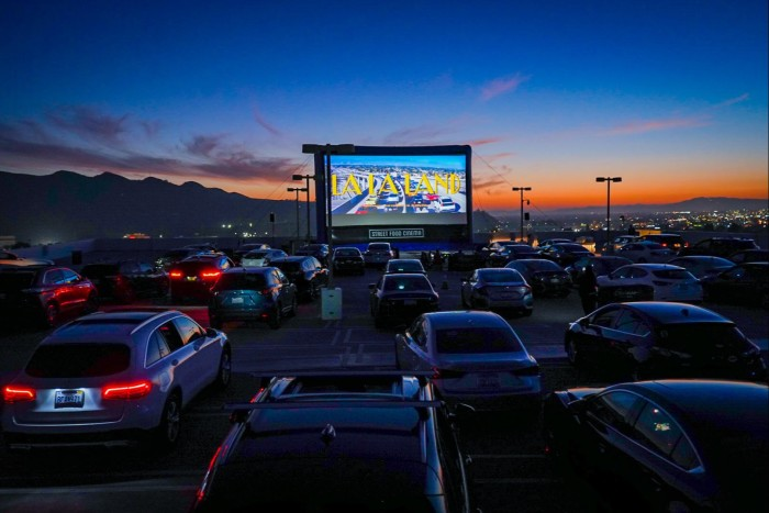 Level 8 Drive-In with Street Food Cinema at TheAmericana at Brand, Los Angeles