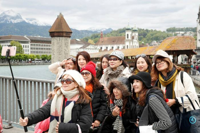 Chinese tourists in Lucerne in 2019