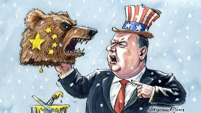 Ingram Pinn illustration of Philip Stephens column 'A cold war does not answer China's challenge'