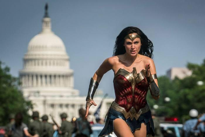 Gal Gadot as Wonder Woman in a scene from 'Wonder Woman 1984'
