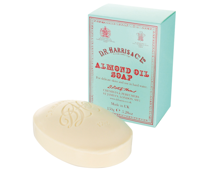 DR Harris almond soap, a grooming staple