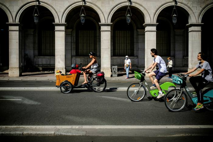 The Rue de Rivoli in Paris has been opened up to cyclists