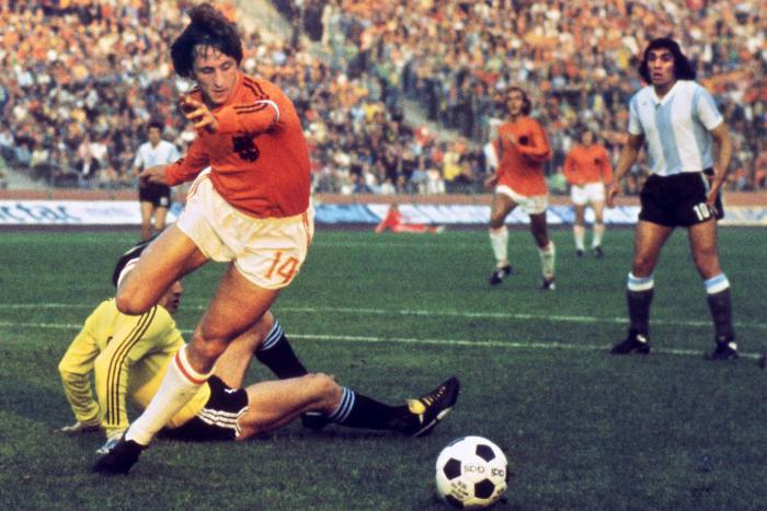 Johann Cruyff, one of Sergio Ermotti's heroes when he was young