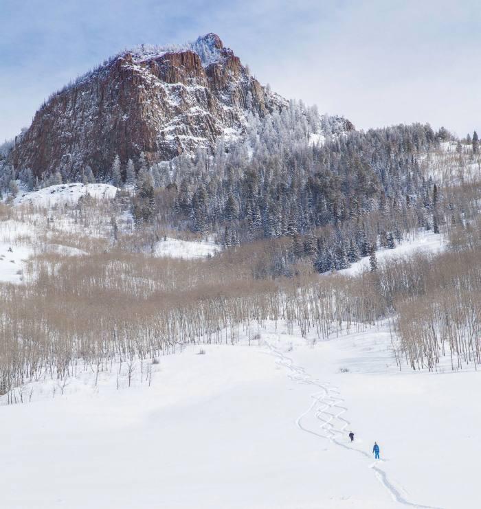 Skiing in Bluebird Backcountry