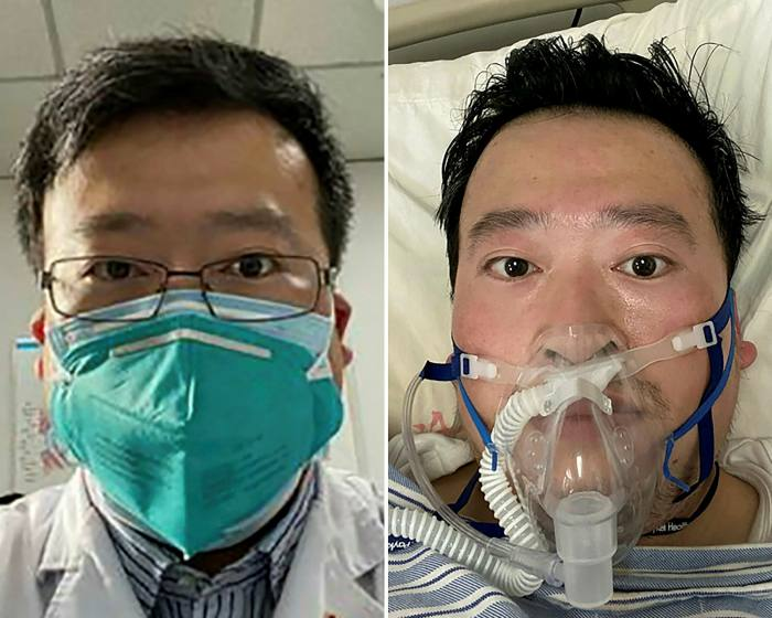 Li Wenliang, an ophthalmologist  at Wuhan Central Hospital, fell sick from Covid-19 and died in early February
