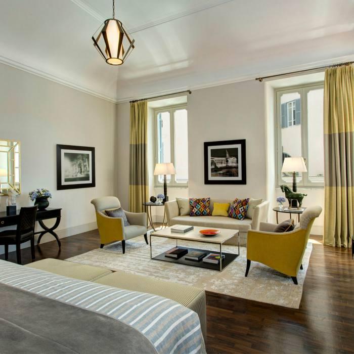 One of the Hotel de Russie's Junior Deluxe Suites, designed by Olga Polizzi
