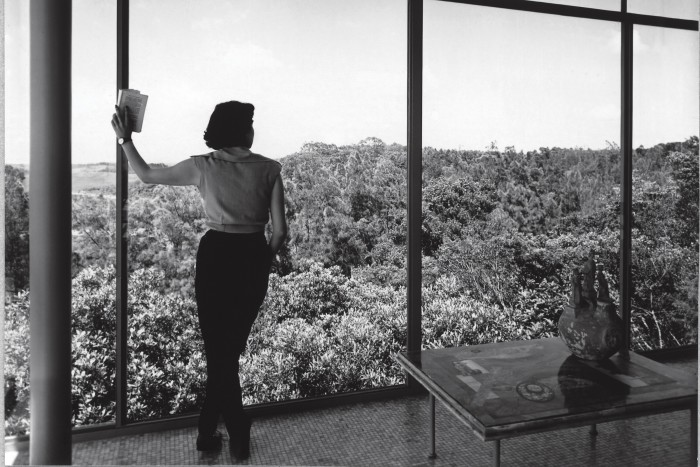 Lina Bo Bardi in her Concrete and Glass House