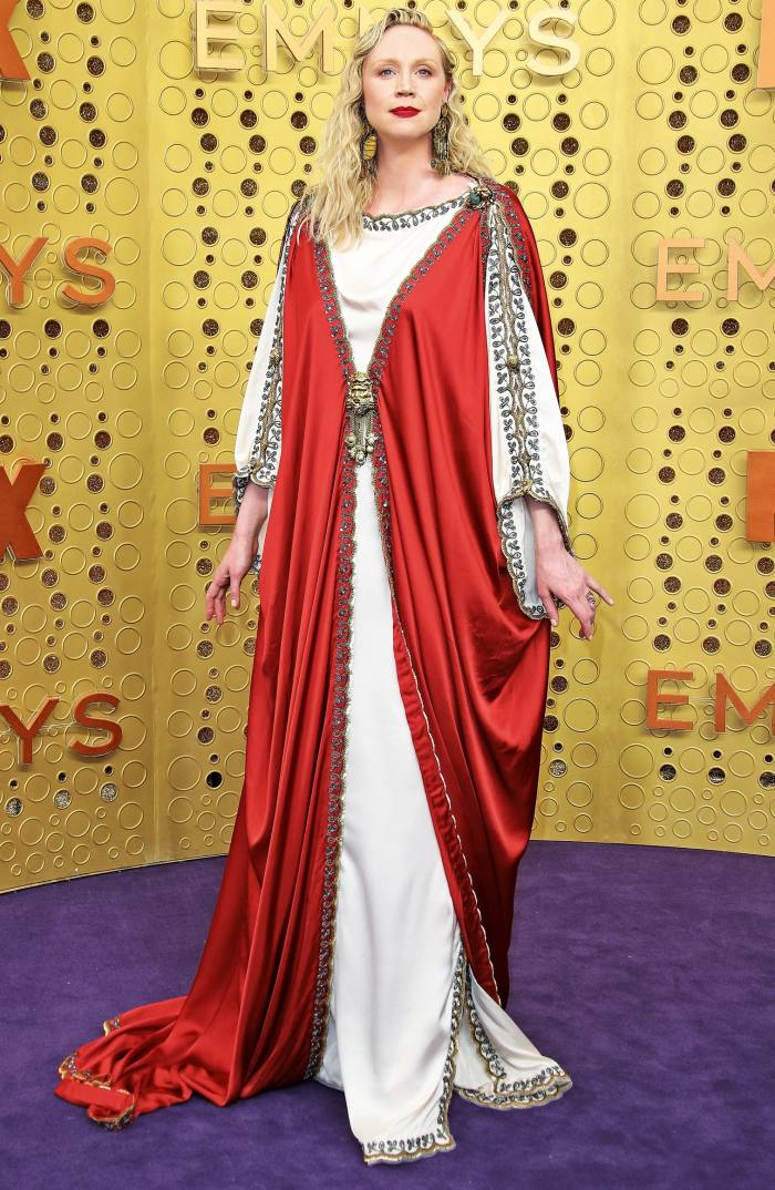 Gwendoline Christie in Gucci at the 2019 Emmys
