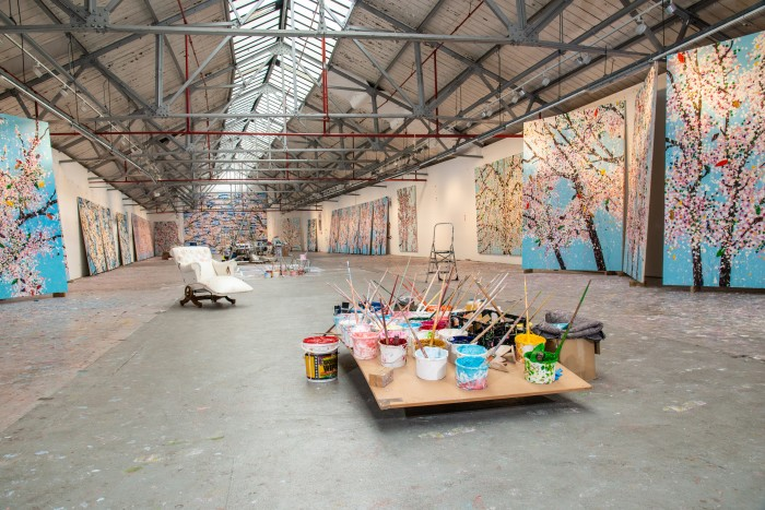 Hirst's central London studio space