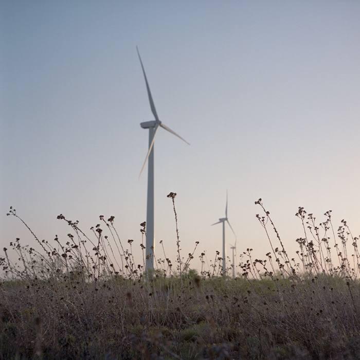 Wind turbines near Midland, Texas