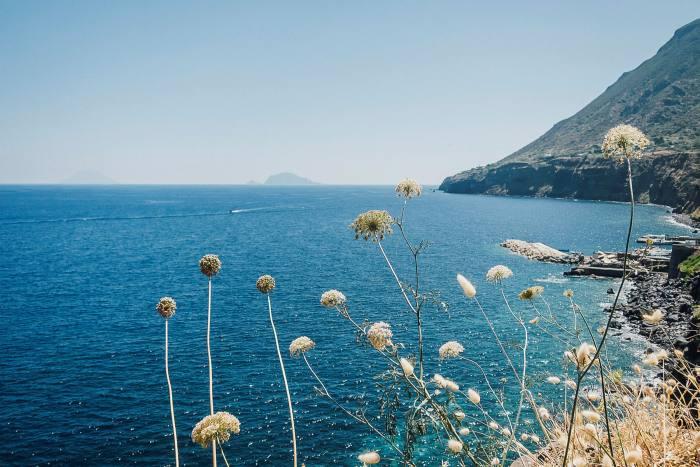 The coastline of Salina