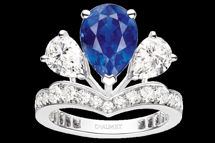 Platinum, diamond and sapphire Joséphine Valse Impériale ring, POA