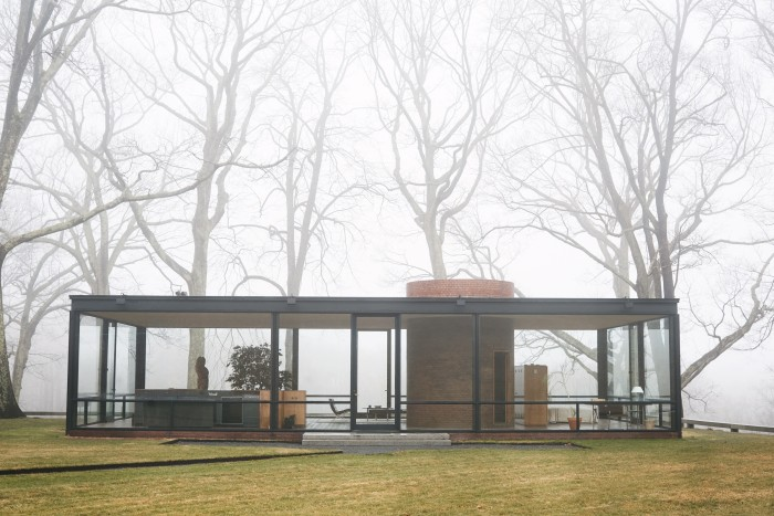 The Glass House in New Canaan