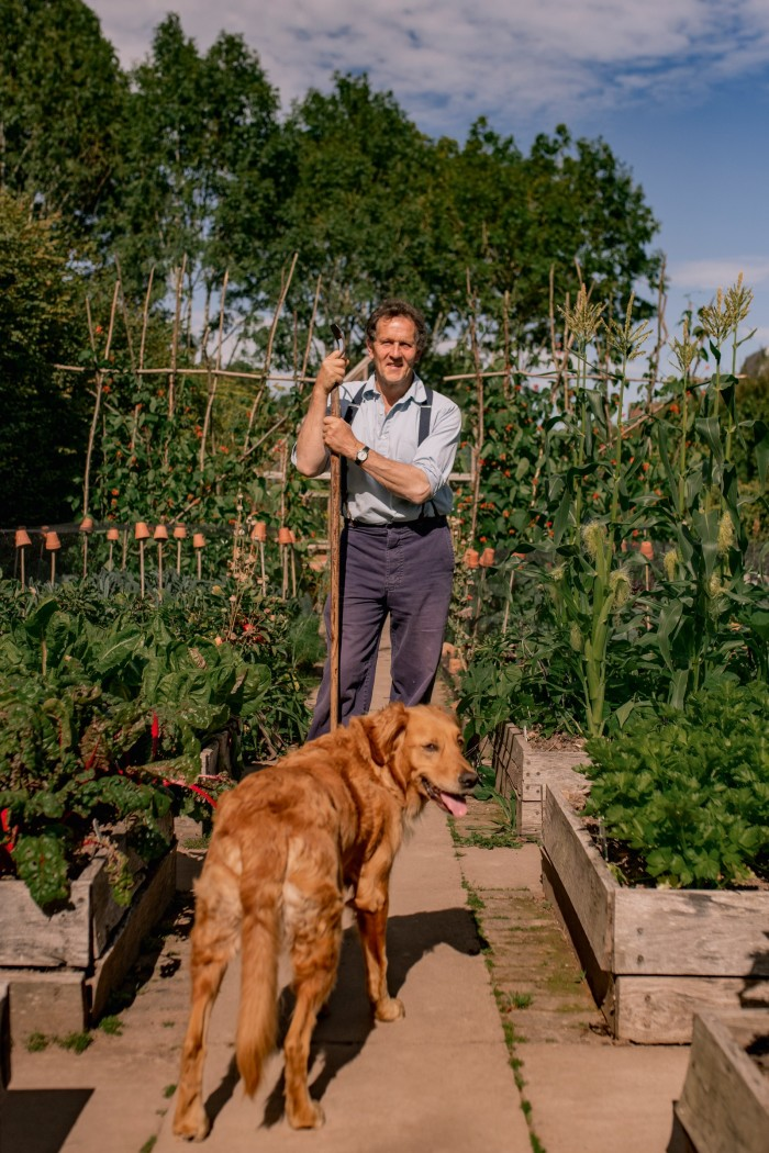 """The last thing I bought and loved was my dog, Nellie,"" says Monty Don of his four-legged gardening companion. A long-term dog owner, the gardener, writer and broadcaster lost a beloved dog, Nigel, in May, after having him for 12 years. A picture of himself with Nigel, by the photographer Marsha Arnold, is one of his most treasured possessions."