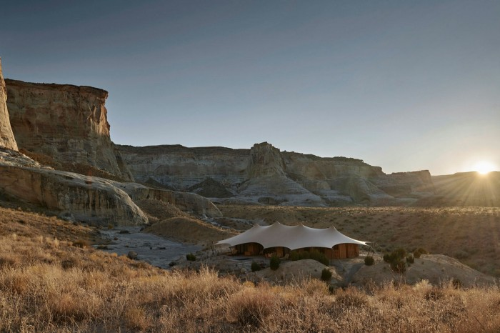 The camp occupies an 135-enclave in the southern Utah desert