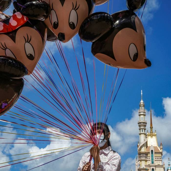 Disneyland Resort in Hong Kong. An $11bn financing by Walt Disney in May has allowed the entertainment giant to keep its 'strong' ranking