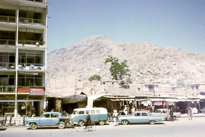 Apartments and shops in Afghanistan in the late 1960s