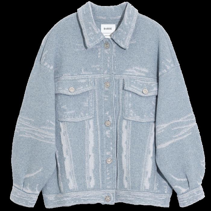 Barrie distressed denim jacket, £2,220