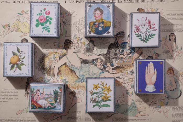 Die Verpackung auf Poly Soap 1803 spiegelt die Mission der Marke wider, das Design des 19. Jahrhunderts wiederzubeleben