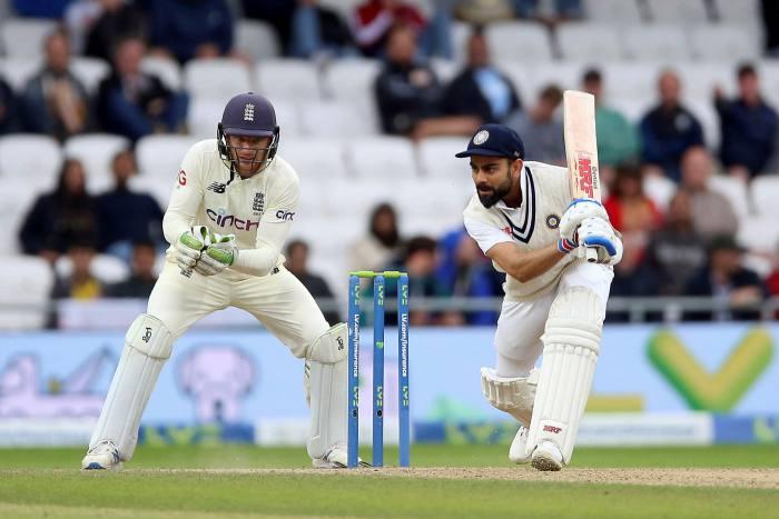 India's Virat Kohli bats during the third day of the third Test