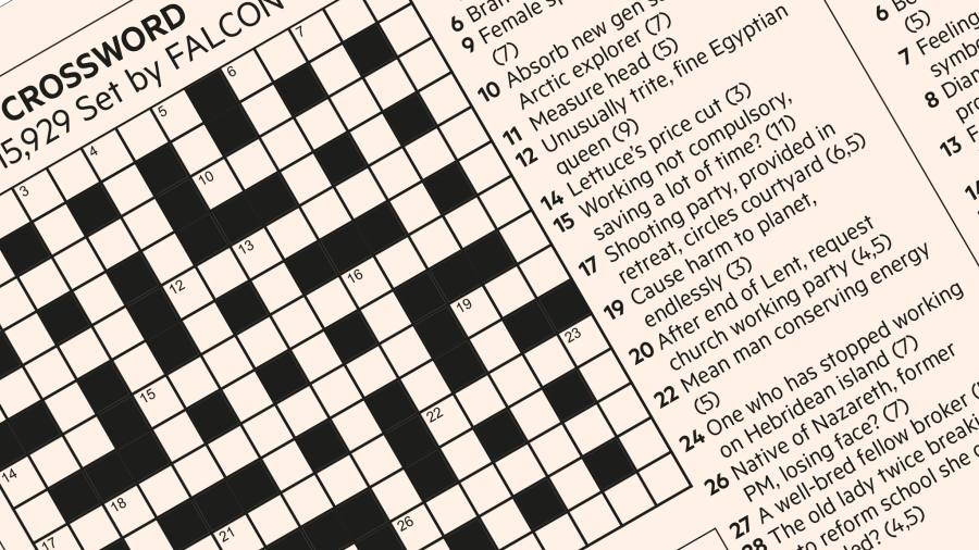 FT Crossword: Number 16,598