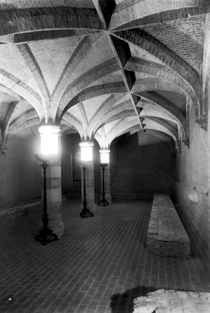 Henry VIII's wine cellar in the interior of the UK Ministry of Defense building