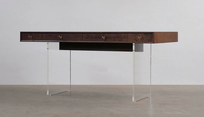 Wenge and perspex desk from The Modern Warehouse
