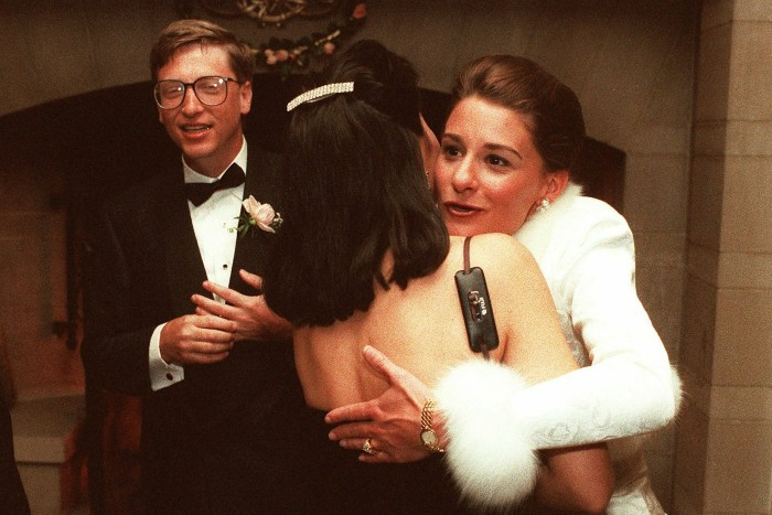 Bill and Melinda Gates married in 1994 after meeting when she started working at Microsoft in 1987