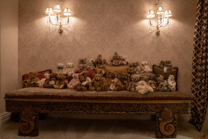 Pei's collection of teddy bears