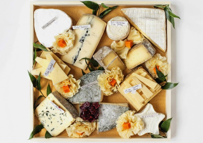 Cheese platter from Quatrehomme in Paris