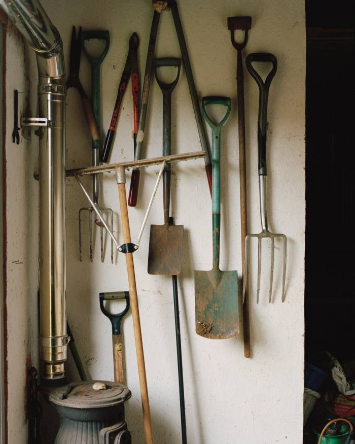 Garden tools in the shed