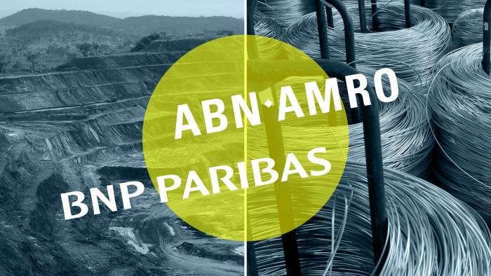 The retreat of ABN and BNP risks making the financing of raw materials more difficult at a time when the world is already reeling from coronavirus