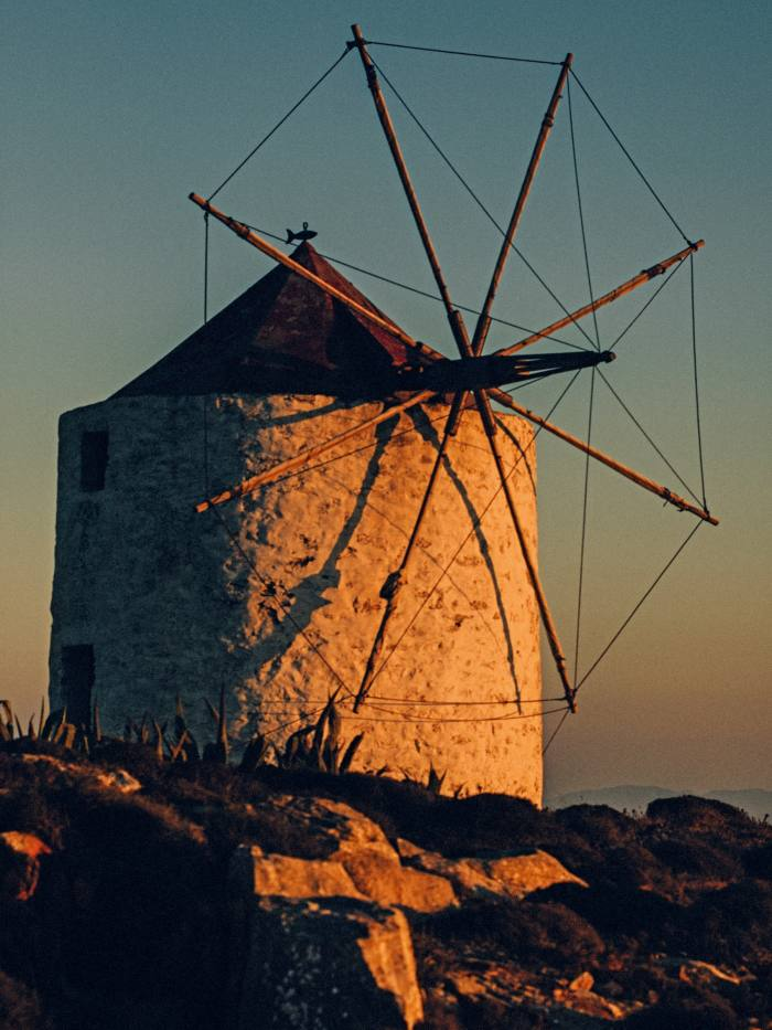 One of thederelict windmills above Chora