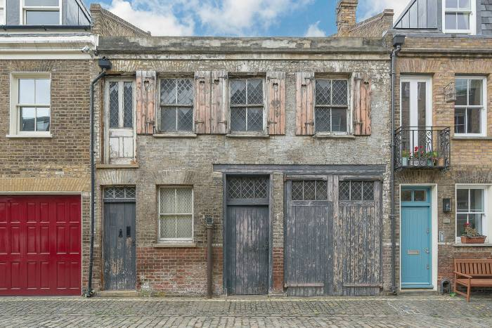 Semi-derelict one-bedroom house in Pindock Mews, London, a £2.5m 'development opportunity'