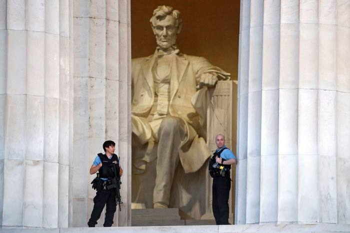 The spell cast by the 19-foot-tall seated Abraham Lincoln in Washington depends not only on knowledge of his murder but also on the eloquence of the Gettysburg Address