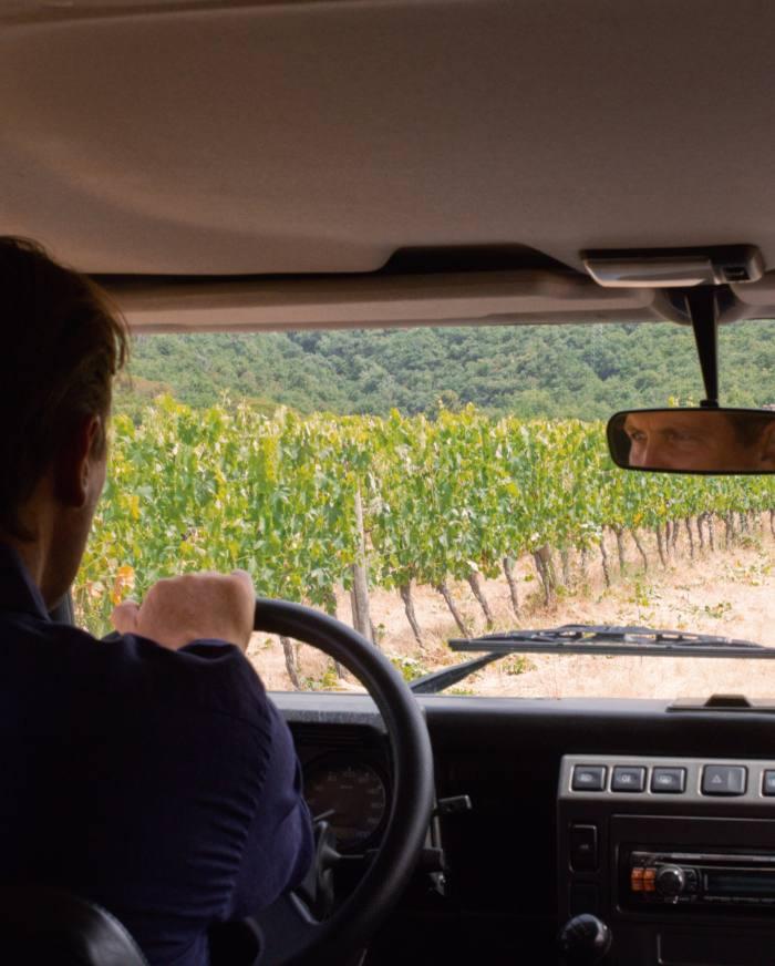Salvatore Ferragamo en route to the vineyards