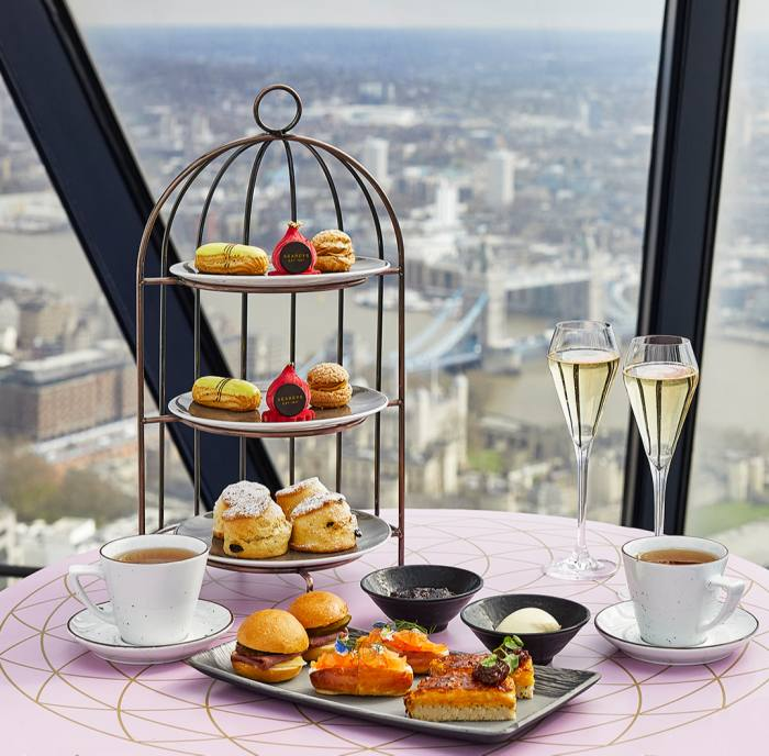 Afternoon tea with views over the city at Searcys at The Gherkin
