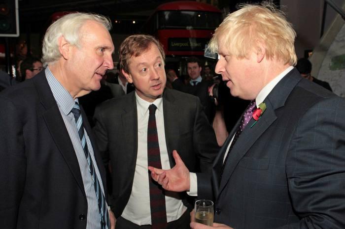 Eddie Lister, Geordie Greig and Boris Johnson