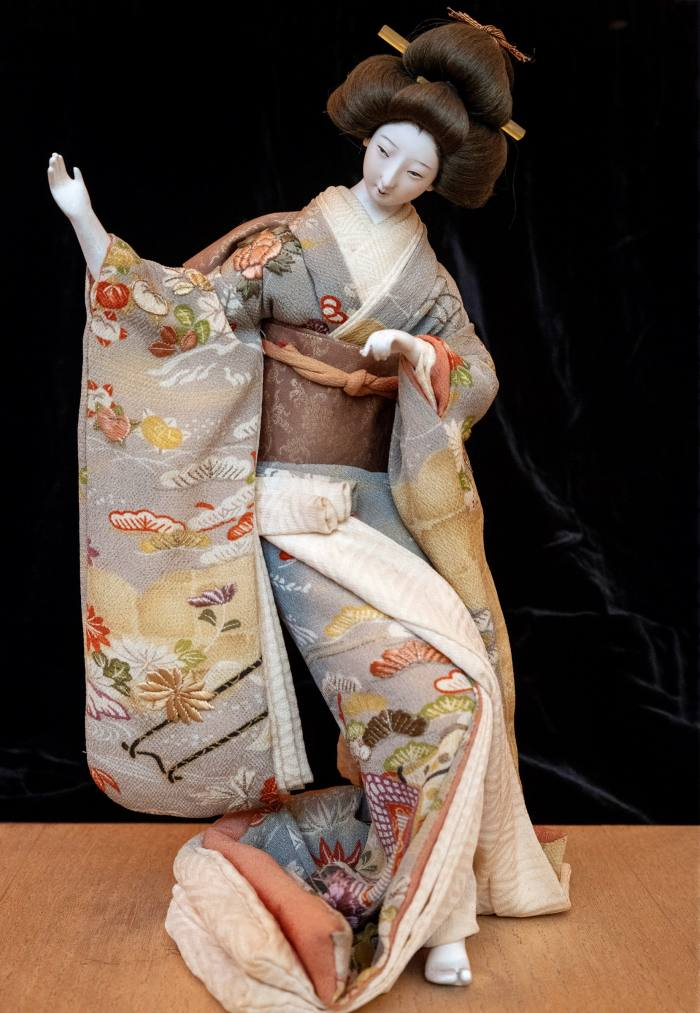 A 200-year-old piece from Pei's collection of antique geisha dolls