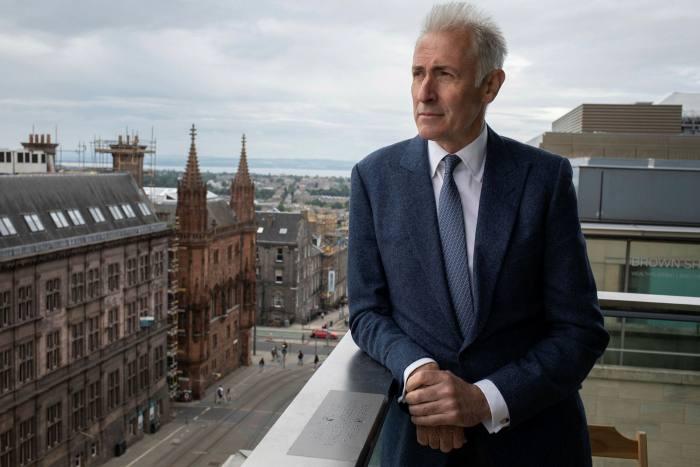 Alasdair Nicholls of Native Land overlooks Edinburgh