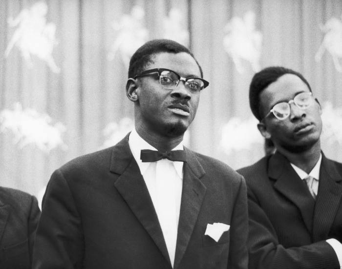Patrice Lumumba (left) became Congo's first prime minister after it gained independence in June 1960