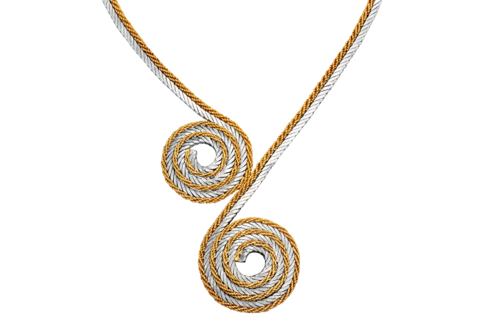 Buccellati 18ct-yellow- andwhite-gold coiled ropenecklace, c1970s,£14,500