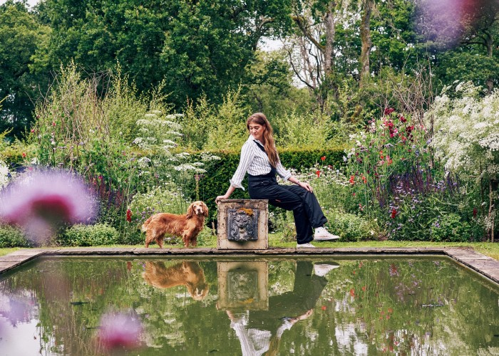 """I would never part with my beloved spaniel, Humbug,"" says interior designer Flora Soames. ""She has been my shadow through so much. We also have her daughter, Coco (named after Chanel). They go with me everywhere."""