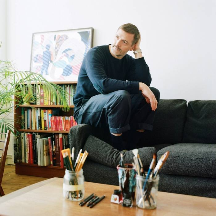 Menswear designer Patrick Grant keeps hisshelves low and his Oxbridge learning grounded. Close inspection reveals a man who likes to keep moving: travel guides and coffee-table tomes are filed alongside a clutch of Ordnance Survey maps