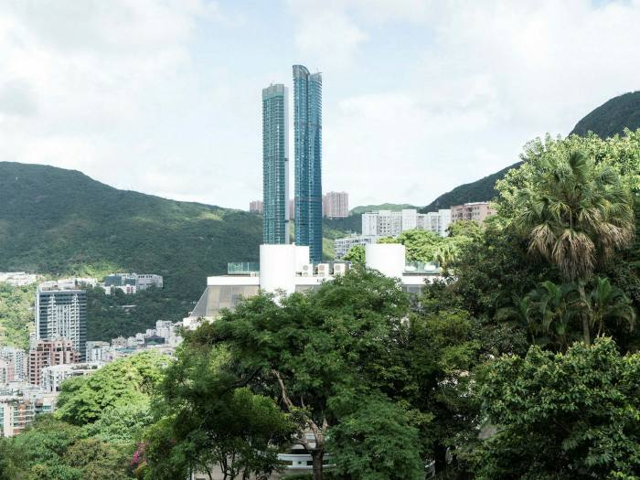 view of Hong Kong and the Summit skyscraper