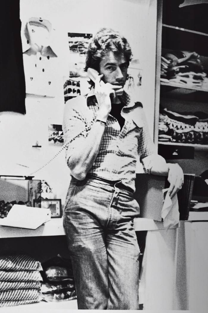 Paul Smith in his first shop in Nottingham in the 1970s