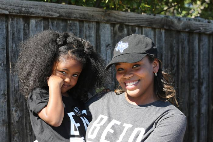Candice Quarles with her daughter – the Dallas councilwoman says young voters of colour have been energised by racial justice activism